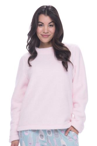 Light Pink Plush Fleece Lounge Top