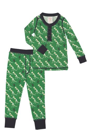 T-Rex Kids Rib Long John PJ Set