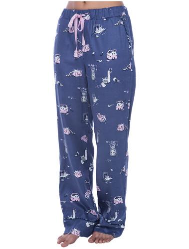 Cat Hide and Seek Flannel Pant