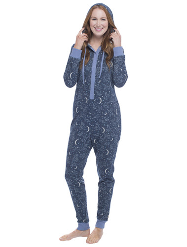 Constellation Sparkle Fleece Union Suit