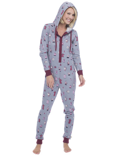 Coffee Long Sleeve Sparkle Fleece Onesie