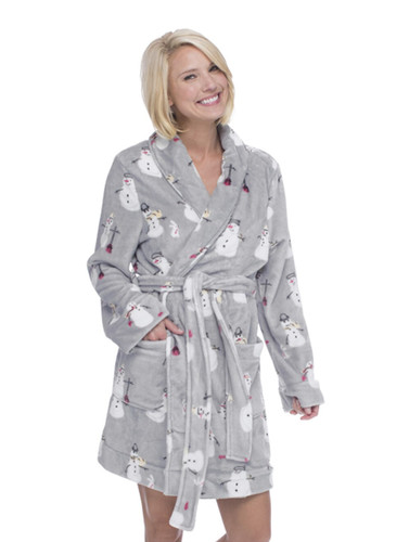 Snowmen Plush Robe