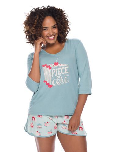 Piece of Cake Jersey Tee Shirt PJ Set