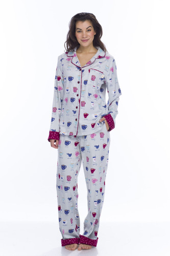 Fancy Coffee Flannel Classic PJ Set