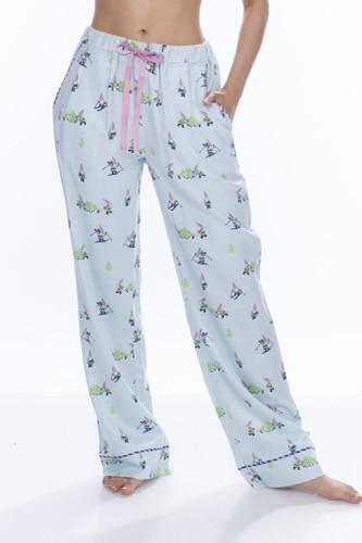 Light Blue Snow Gnome Flannel Pant