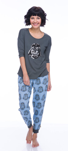 Darth Vader Sparkle Fleece Jogger PJ Set