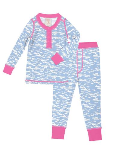 Clouds Kids Long John Pajama Set