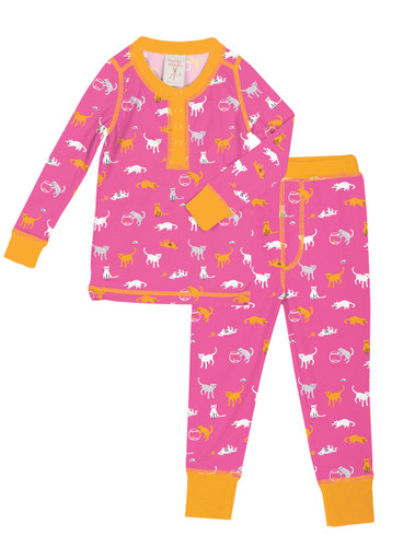 Kat House Kids Long John Pajama Set