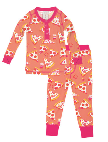 Pizza Night Kids Long John Set