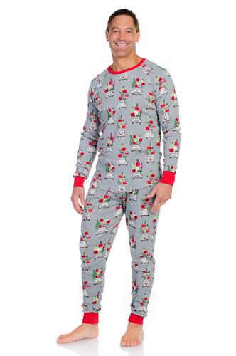 Christmas Shopping Men's Thermal Long John PJ Set
