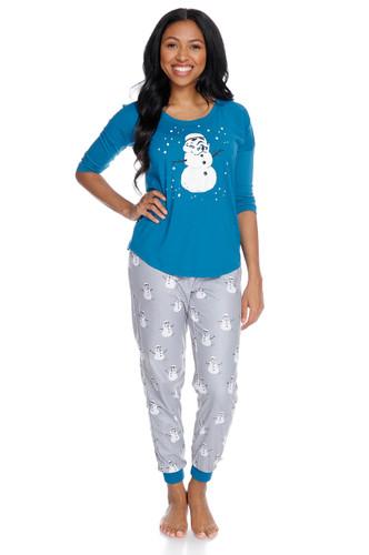 Stormtrooper Snowman Women's Long Sleeve and Pant PJ Set