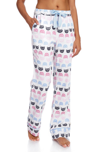 Cat Polka Dot Women's Flannel Pant