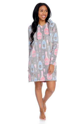 Champagne Women's Coral Fleece Nightshirt