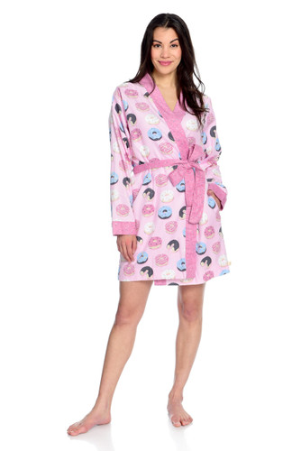 Donuts Women's Flannel Robe