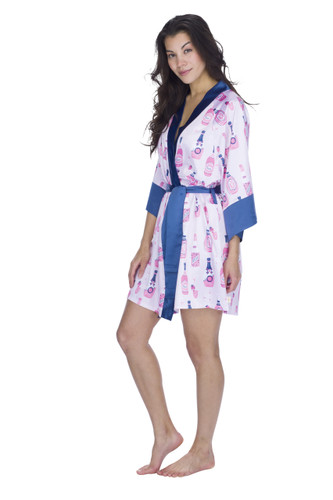 Rosé Women's Satin Robe