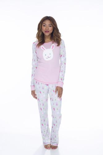 Bunnies Womens Jersey Pant PJ Set