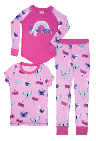 Butterfly 3 Piece PJ Set