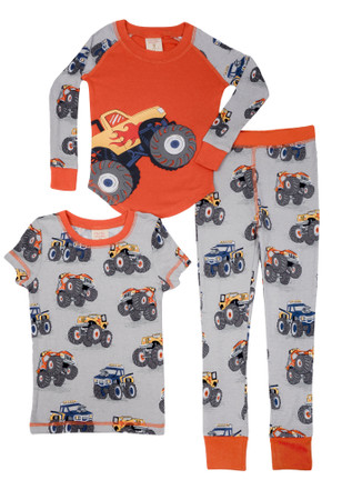 Monster Trucks Kids 3 Piece PJ Set