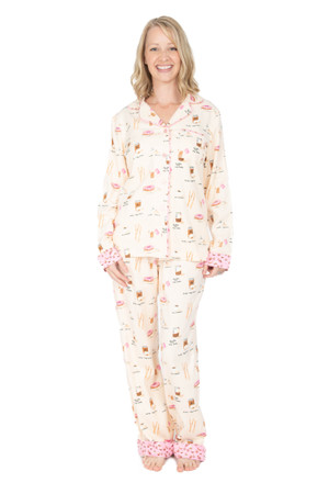 Morning Coffee Flannel Classic PJ Set