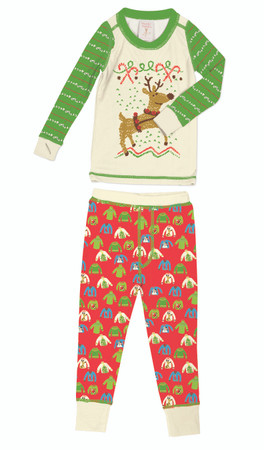 Holiday Sweaters Long John Pajama Set