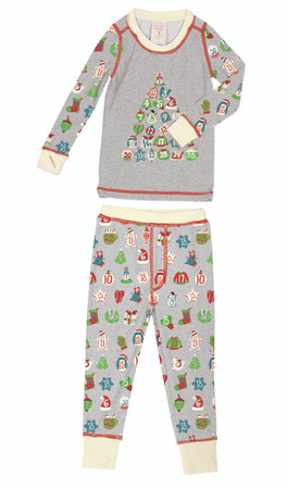 Advent Calendar Kids Long John Pajama Set