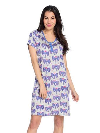 Elephant  Henley Nightshirt