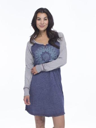 Reflections Vintage Wash Jersey Long Sleeve Raglan Nightshirt