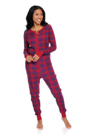 Plaid Thermal Onesie