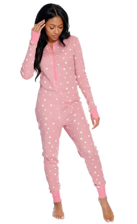 Retrospective Co. Teeny Hearts Thermal Onesie