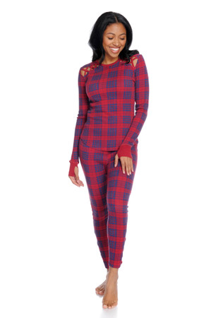 Plaid Thermal Long John