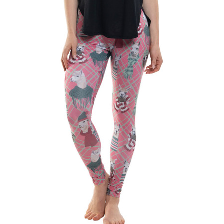 Winter Warm Llama Leggings