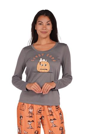 Nite Nite by Munki Munki Vintage Peanuts Halloween Friends Women's PJ Set
