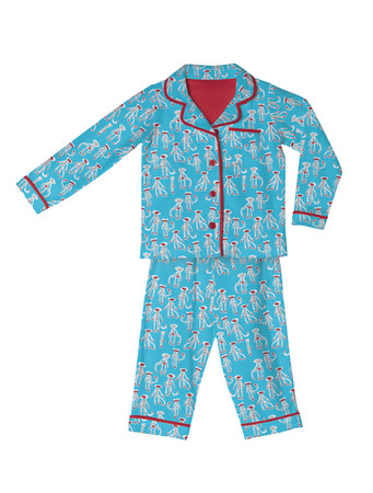 Sock Monkey Kids Flannel Classic PJ Set
