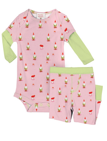 Garden Gnomes Infant Romper and Pant Set