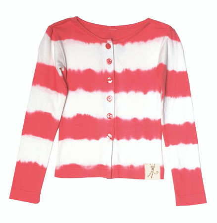 Tie Dye Stripe Red Cardigan Playwear