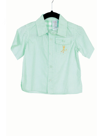 Gingham Blue Camper Shirt Playwear