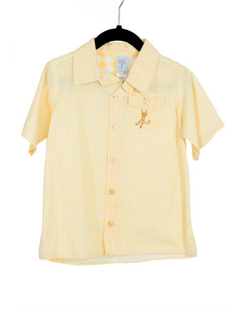 Gingham Yellow Camper Shirt Playwear
