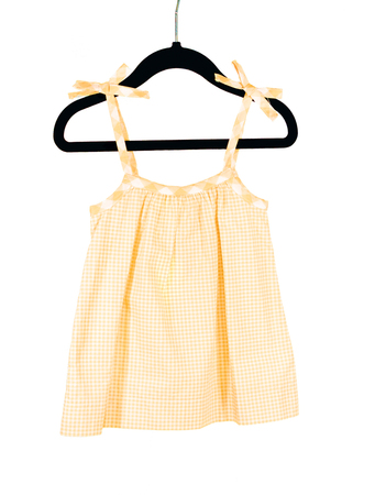 Yellow Gingham Bow Tank Playwear