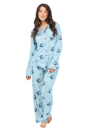Birds Jersey Long Sleeve Classic PJ Set