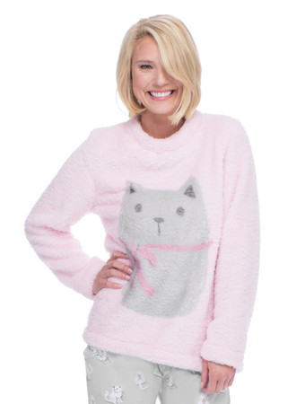 Kitten & Bows Plush Lounge Top