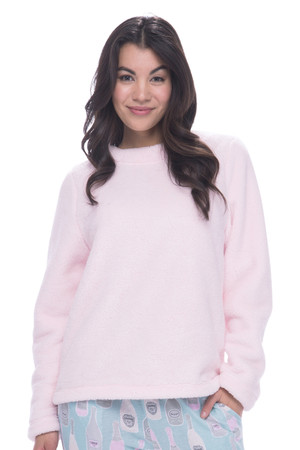 Light Pink Plush Fleece Lounge Top