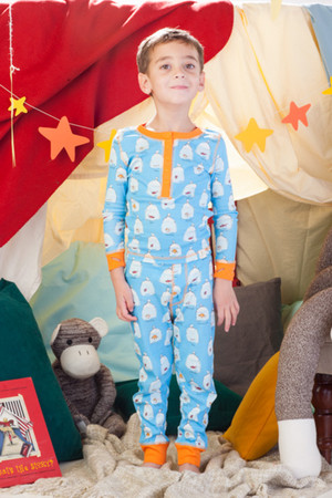 Goldfish Kids Rib Long John Pajama Set