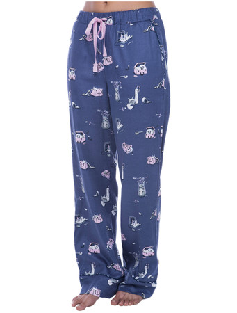Cat Hide and Seek Flannel Pant