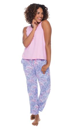 Lace Elephant Jersey Pant PJ Set