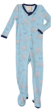 Blue Polar Bears Thermal Blanket Sleeper