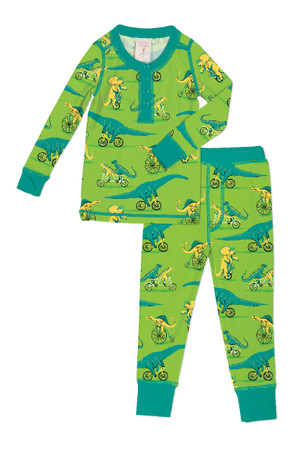 Dino Bikes Kids Long John PJ Set