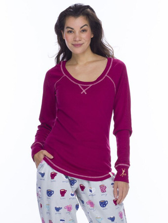 Fancy Coffee Flannel Jogger PJ Set
