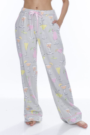Fancy Drinks Flannel PJ Pant