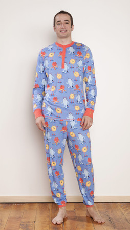 Furry Monsters Mens Jogger PJ Set
