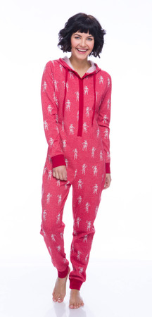 Stormtrooper Candy Cane Womens Sparkle Fleece Union Suit